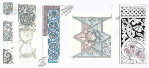 Dibujos a partir de elementos decorativos.