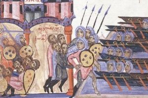 Los cordobeses invaden Creta (Skyllitzes matritensis, códice s. XI)