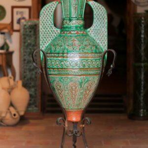 Vaso de la Alhambra verde