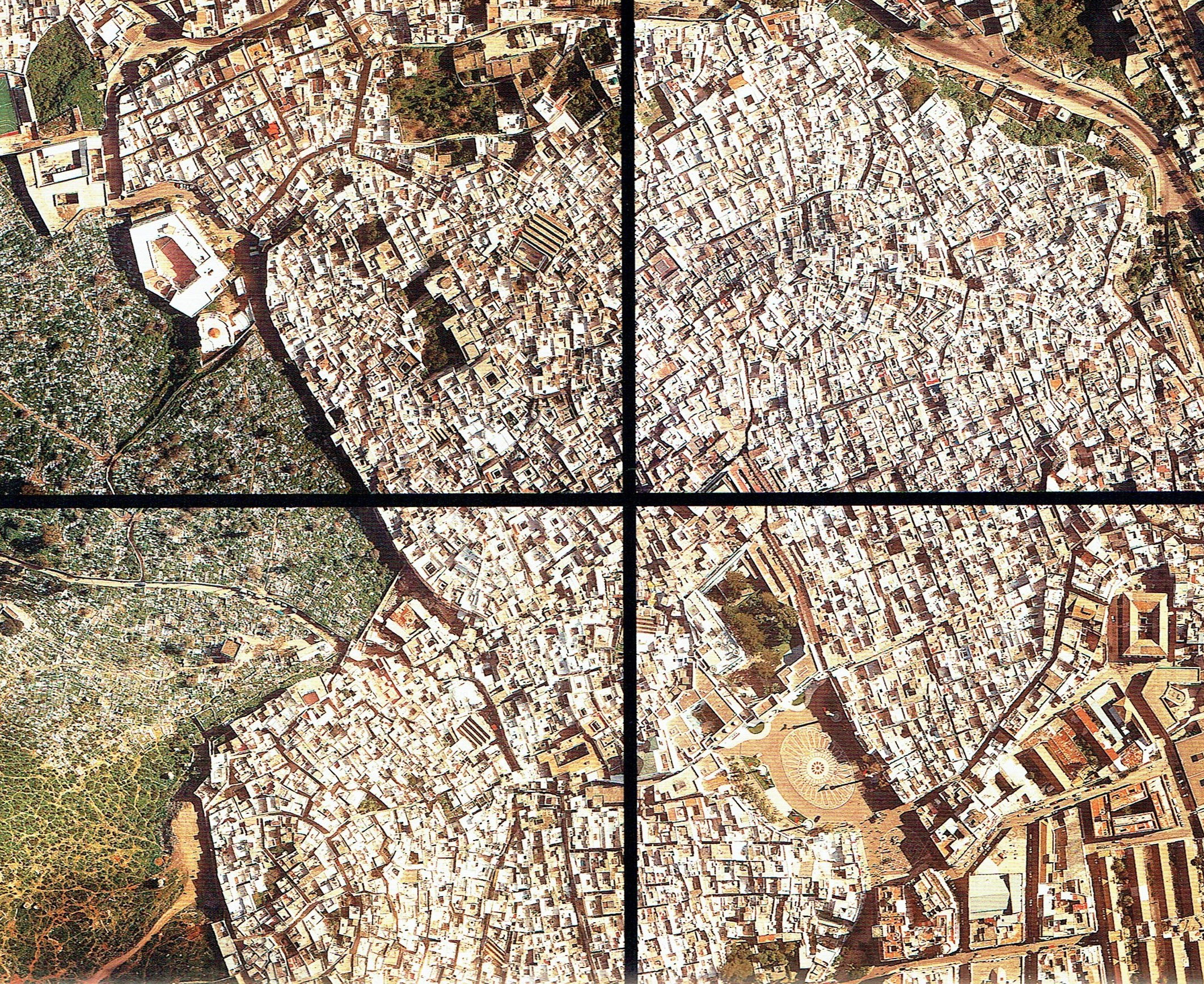Vista aérea Medina Tetuán