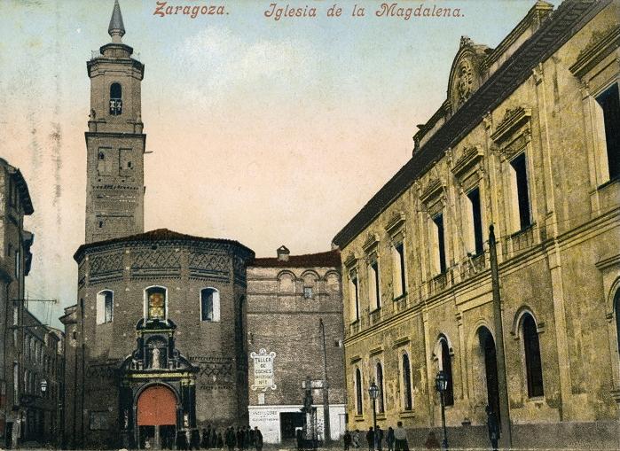 1. Postal antigua. Iglesia de la Magdalena antes de su restauración.